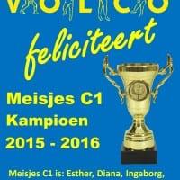 Meisjes C1 Kampioen
