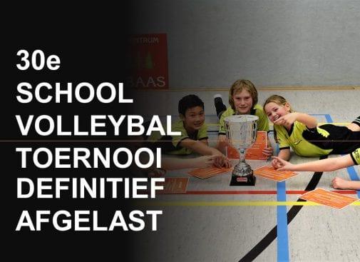 Schoolvolleybaltoernooi defenitief naar 2021